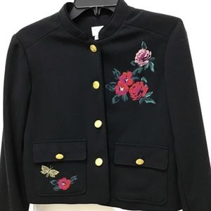 A New Day Embroidered Floral Blazer Suit Jacket